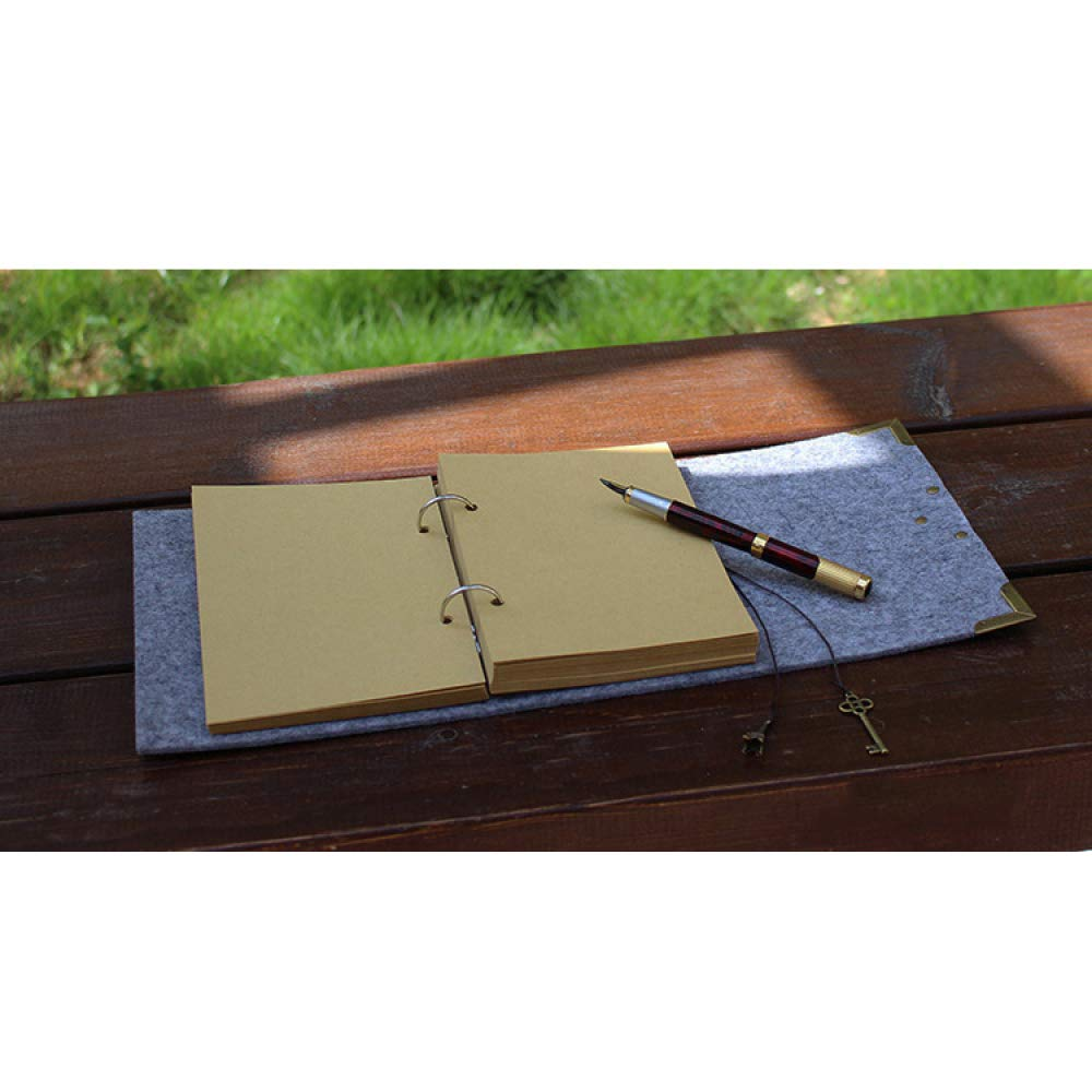 LJJTDS Libreta De De De Bloqueo Vintage Europea/Notebad Adecuada para Adultos Y Niños para Escribir Bocetos Pintados A Mano para Escribir Regalos De Poesía (5 Colores Opcionales),Azul-17.5  24cm ffacd8