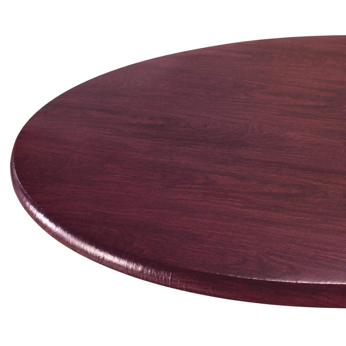 Wood Grain Vinyl Elastic Table Cover by Miles Kimball (Image #1)