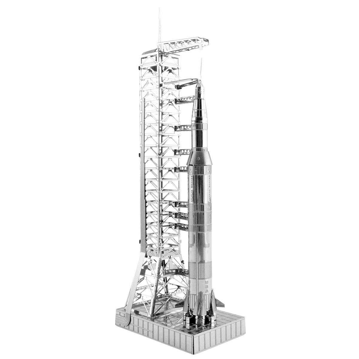 Fascinations Metal Earth Apollo Saturn V with Gantry 3D Metal Model Kit