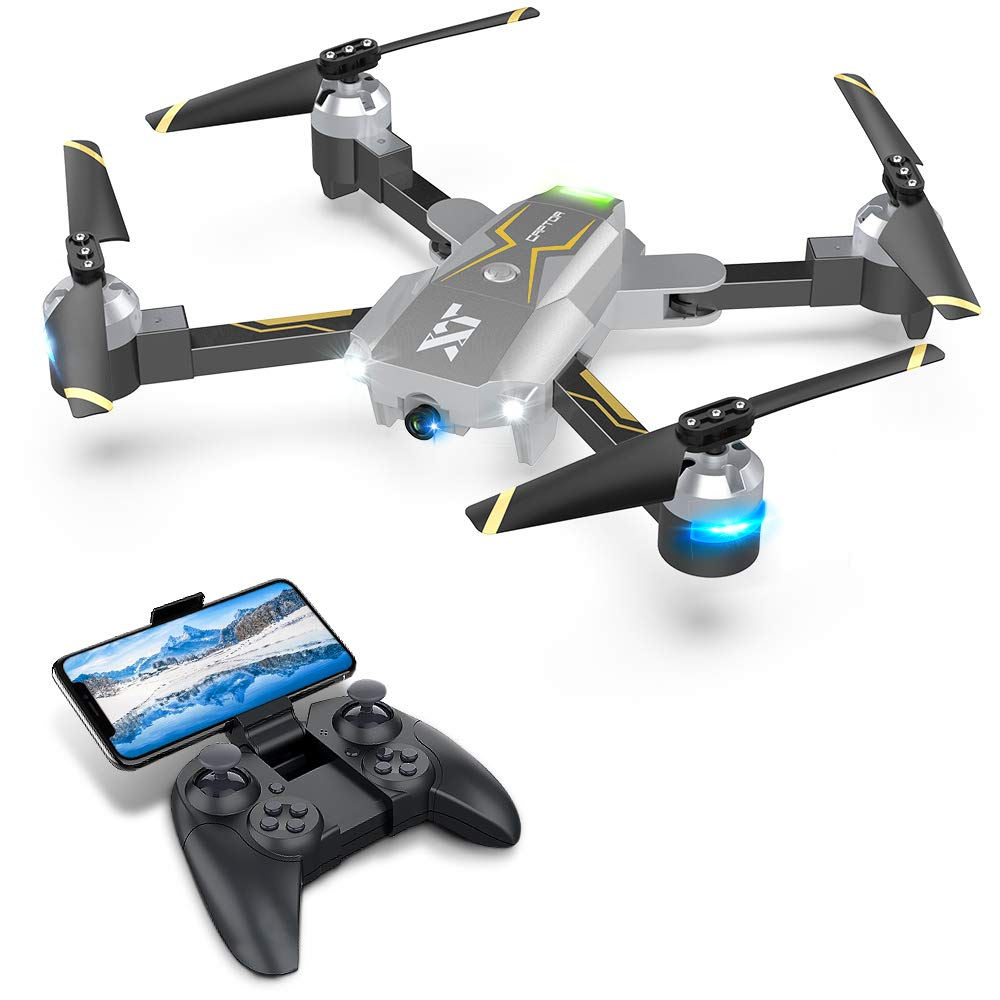 Drones with Camera for Adults - 120° Wide-Angle 720P HD Camera, Beginner Friendly, RTF One Key Take Off/Landing, Optical Flow Positioning, Trajectory Flight, APP Control, Altitude Hold, Headless Mode by Attop