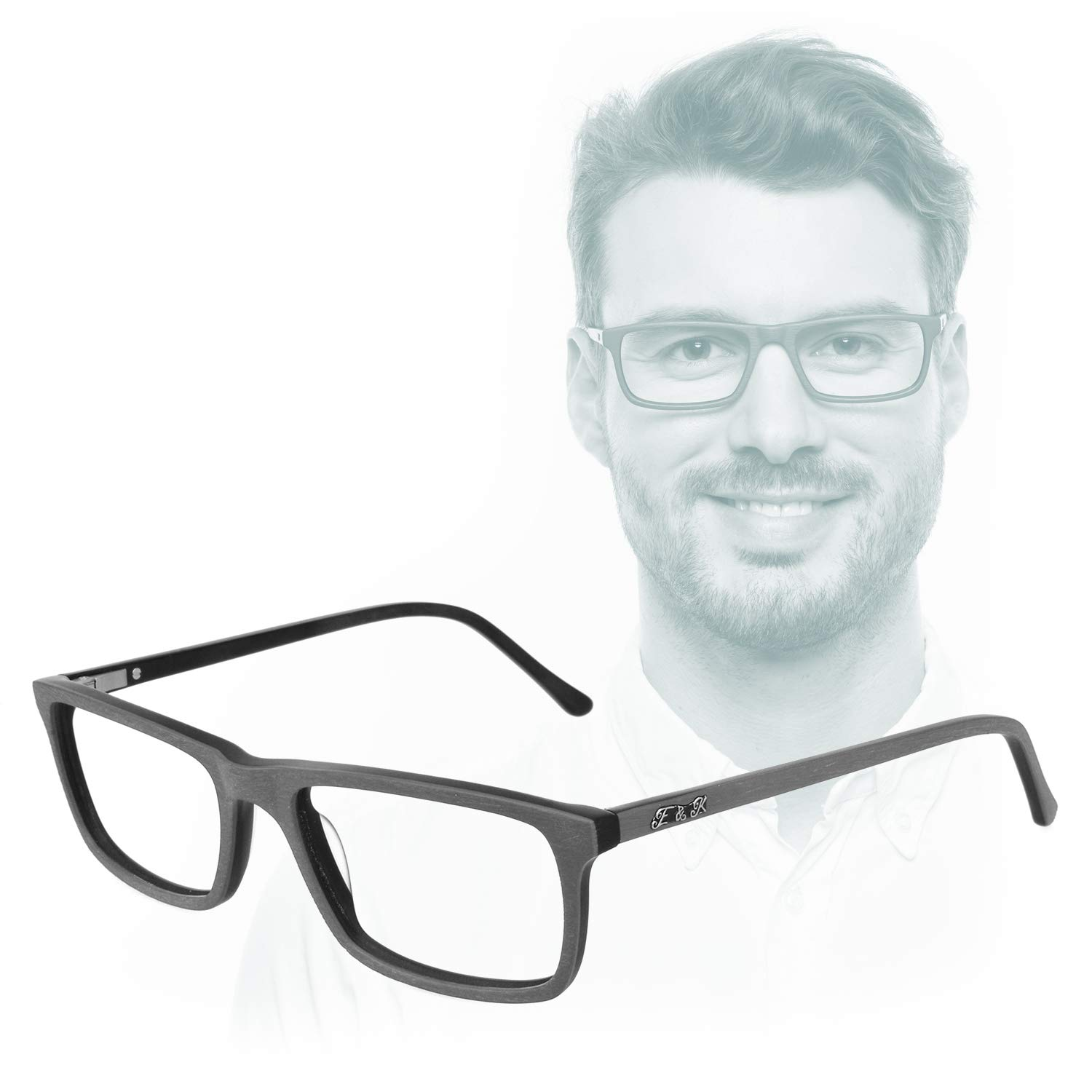 Edison & King 7th Day - The Business Reading Glasses with Premium Lenses incl. Bluelight Protect (+1.50 dpt, Grey) by Edison & King
