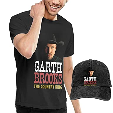 Amazon.com  Men s Garth Brooks Black T Shirt and Cowboy Cap Bundle Gift  Set  Clothing 55d8d2b988e
