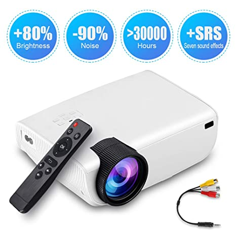 Amazon.com: Mini proyector portátil HD LED Video ...