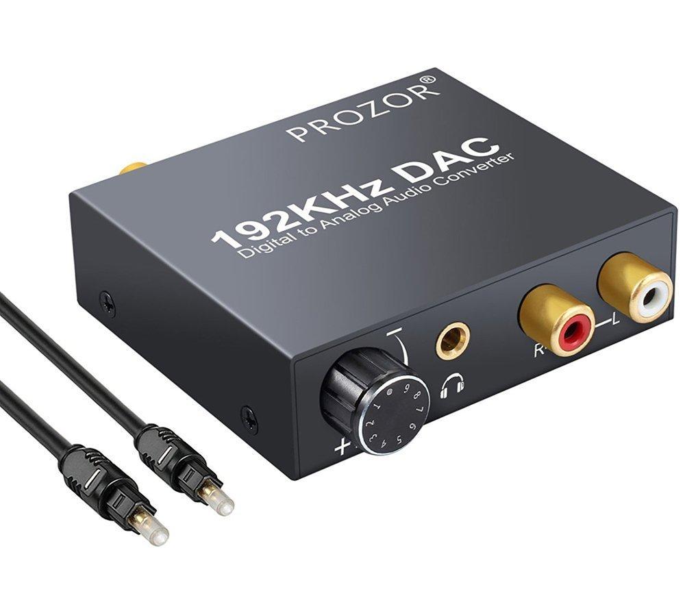 192KHz DAC Convertidor Digital SPDIF Coaxial óptico Toslink a Audio Estéreo Analógico L / R RCA 3.5mm Jack Adaptador de...