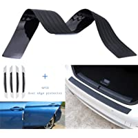UTSAUTO Rear Bumper Protector Guard Trunk Edge Scratch Protector Cover Mat Door Entry Guards Accessory Trim Cover for…