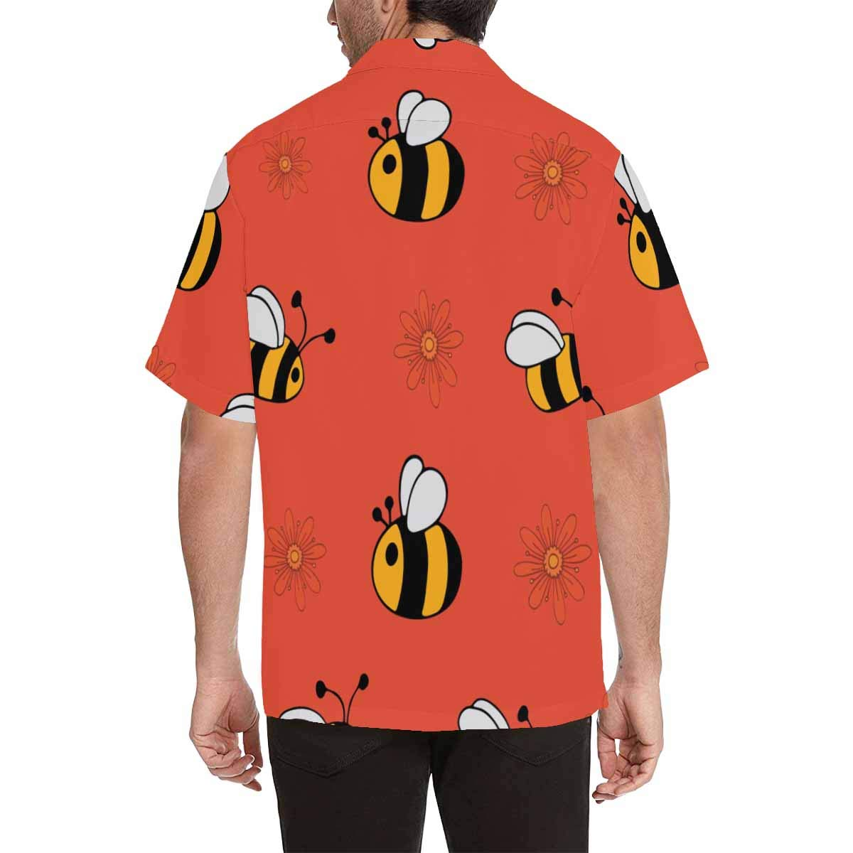 InterestPrint Bees Shirt Casual Button Up Tee