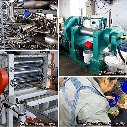 FidgetGear Kit de Tuyau de radiateur en Silicone pour Yamaha YZF R6 1999 2000 2001 2002 Rouge