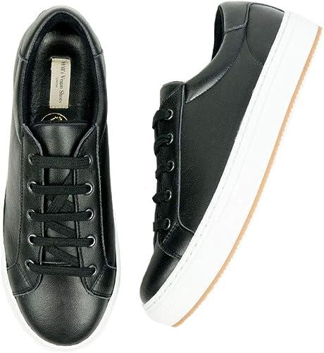 Vegan Shoes Womens Smart Sneakers Black