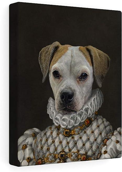 Amazon Com Fur Art Love Custom Pet Portrait Renaissance Style On Canvas The Princess 12 X16 Posters Prints