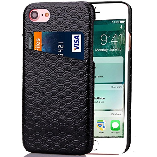 Price comparison product image For iPhone 7 Plus ,GBSELL Fashion Card Holder Slim Case Cover For iPhone7 Plus 5.5 Inch (Black)