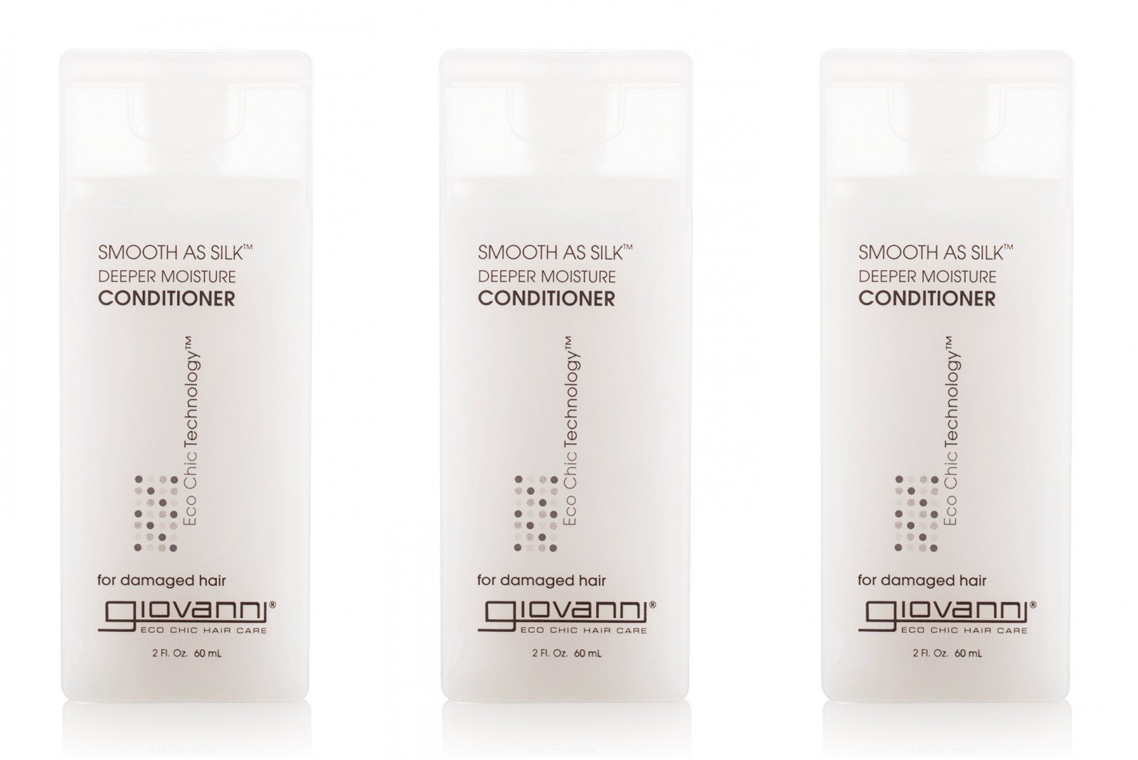 Giovanni Cosmetics Conditioner Smooth As Silk 2 Oz Travel Size (Pack of 3)