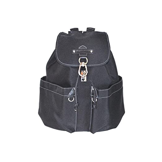 Katana - Sac a dos multi-poches Nylon garni Cuir - Noir D3Uf5svq