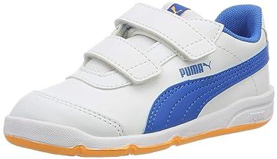 d4422fa2c5 Puma Unisex-Kinder Stepfleex 2 SL V Inf Sneaker Weiß (Puma White-Indigo