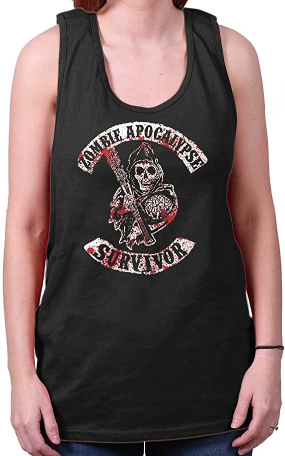 in Him We Trust Cute Funny Zombie Show Tank Top