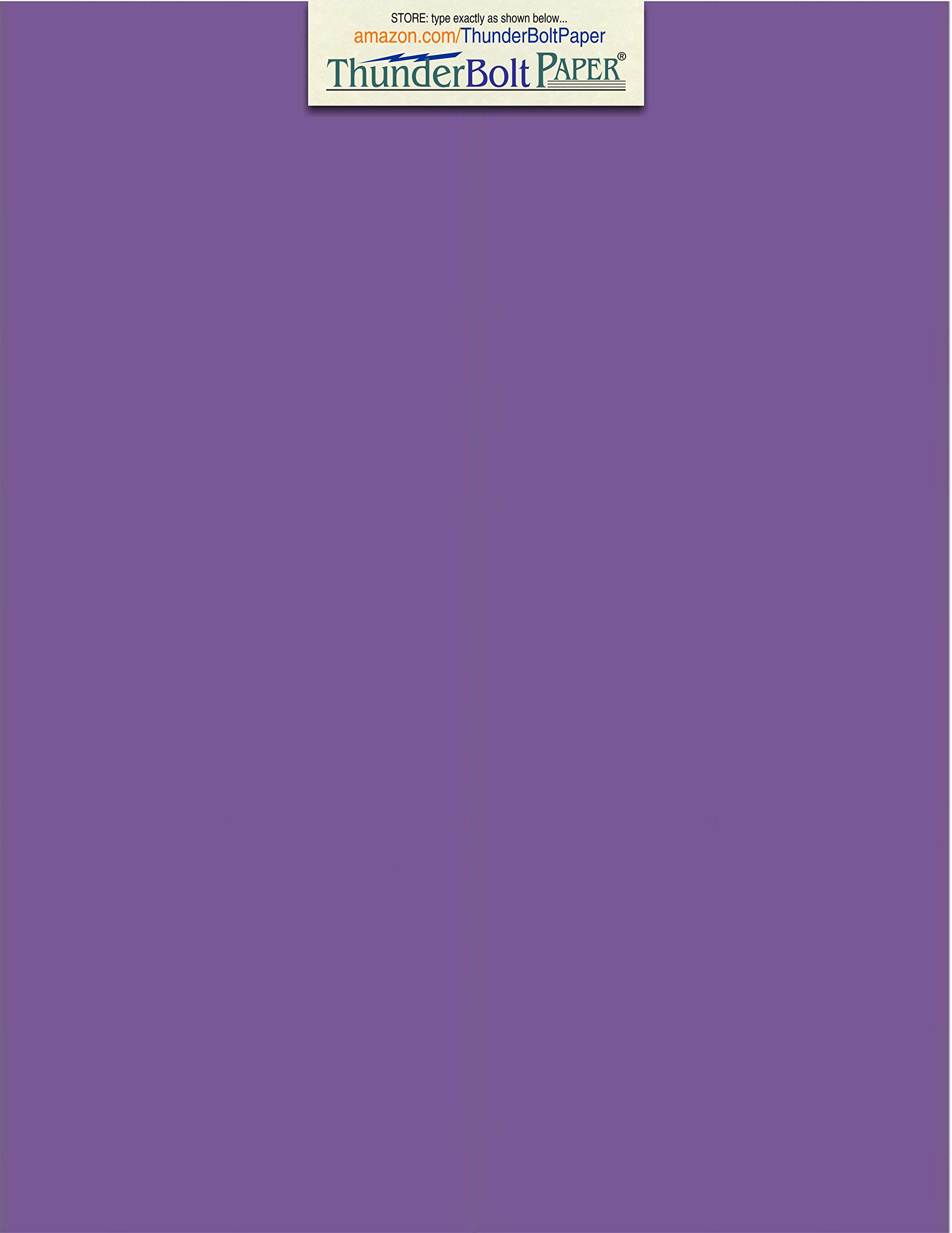 50 Bright Purple Grape 65# Cardstock Paper 8.5'' X 11'' (8.5X11 Inches) Standard Letter|Flyer Size - 65Cover/45Bond Light Weight Card Stock - Bright Printable Smooth Paper Surface