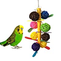 Keersi Colourful Ball Chew Toy for Bird Parrot Budgie Parakeet Cockatiels Conure Lovebird Finch Macaw African Grey Cockatoo Amazon Cage