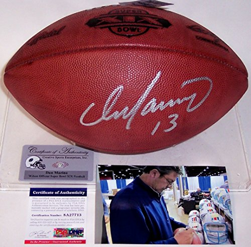 (Dan Marino Autographed Hand Signed Super Bowl 19 XIX Official NFL Leather Football -)