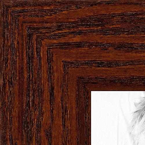 ArtToFrames 14x17 inch Walnut Stain on Oak Wood Picture Frame, 2WOM0066-80206-YWAL-14x17 ()