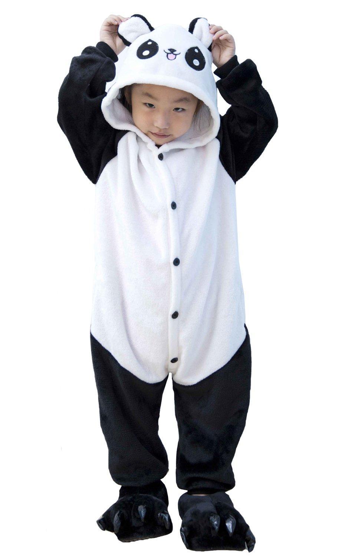 Tonwhar Kids Stitch Kigurumi Pajamas Children's Unisex Cosplay Costume Onesie (140(Height:53.14''-57''), Panda)