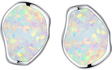 Birthstones Droplets Authentic S925 Silver Crystal Girls Women Ear Stud Earrings
