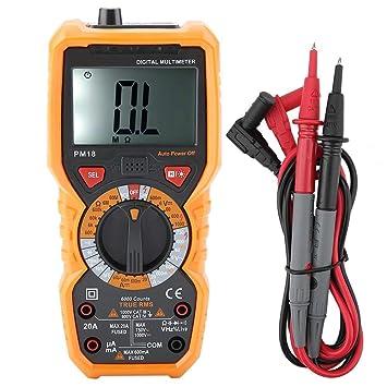 DE Profi Digital Multimeter Kapazitätsmessgerät Voltmeter Spannungsmesser AN8009