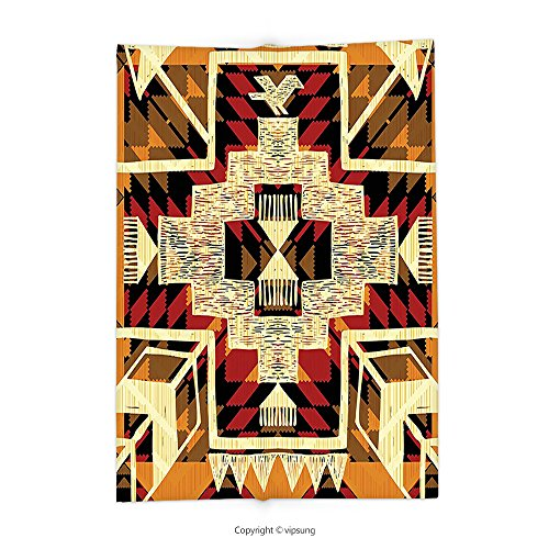 8492b680e lovely Custom printed Throw Blanket with Native American Inspirational  Arrow Decor Indian Style Retro Aztec Pattern