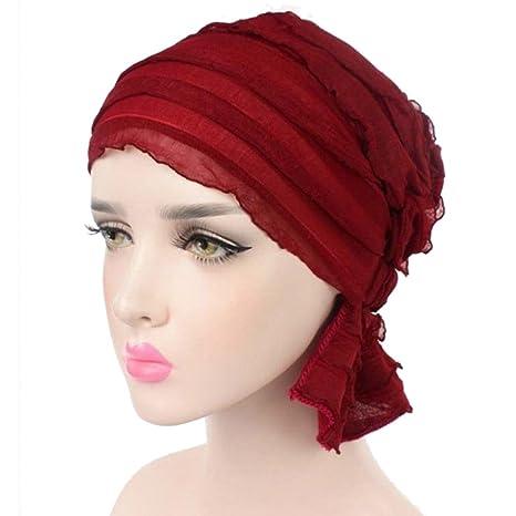 beanie maglia sci Head Wrap Cap Cancro sonno Berretto Sciarpa per Chemo  Alopecia perdita di capelli b9292153589f
