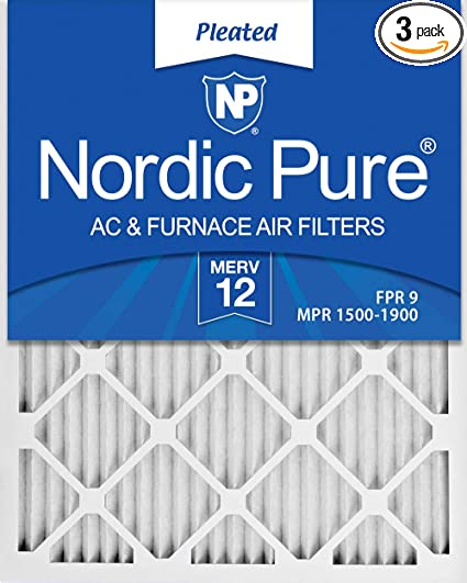 Nordic Pure 19/_3//4x22x1 Exact MERV 12 Pleated AC Furnace Air Filters 1 Pack