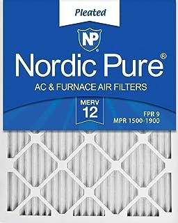 Nordic Pure 16/_1//4x21/_1//2x1 Exact MERV 12 Tru Mini Pleat AC Furnace Air Filters 1 Pack
