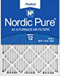 4. Nordic Pure 14x20x1 MERV 12 Pleated AC Furnace Air Filters, 6 Pack, 14x20x1M12-6