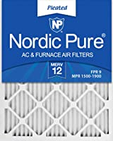 2. Nordic Pure M12-6 Pleated AC Furnace Air Filters (6 Pack) - Best Premium AC/ Furnace Air Filter