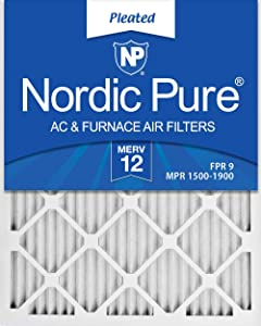 Nordic Pure 18x24x1 MERV 12 Pleated AC Furnace Air Filters, 6 PACK, 6 PACK