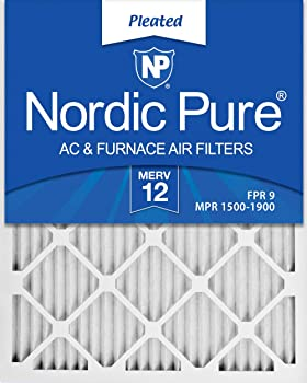 Nordic Pure 16x25x1 MERV 12 Pleated AC Furnace Filter