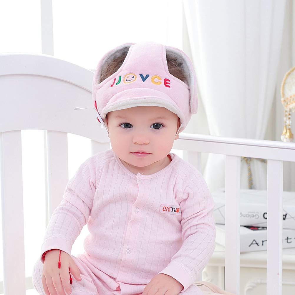 YeahiBaby Casco de seguridad para bebes c/ómodo y ajustable para proteger cabeza aprender gatear andar caminar correr jugar Rosa