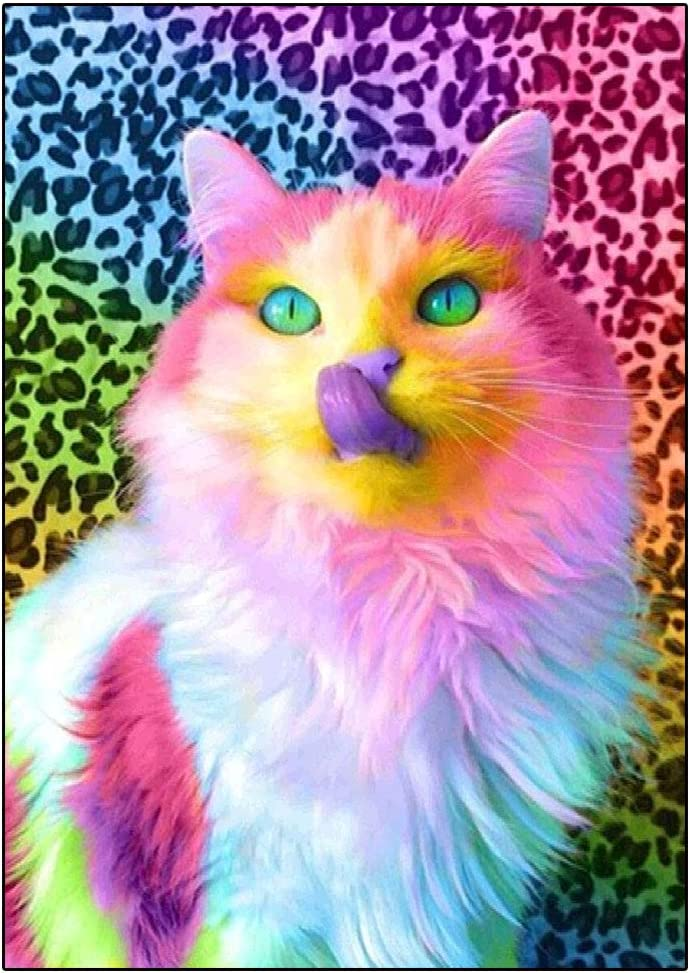 Cat Mouse Colorful Paint By Numbers Kits DIY Number Canvas Painting Hand Kitty