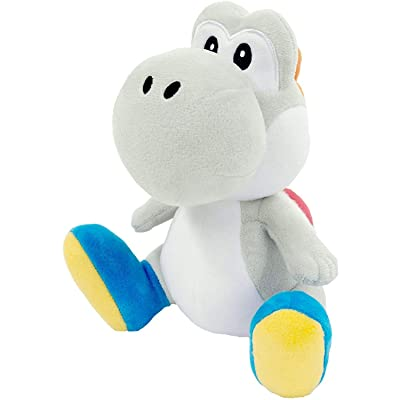 """Little Buddy 1393 Super Mario All Star Collection 7"""" White Yoshi Plush: Toys & Games"""