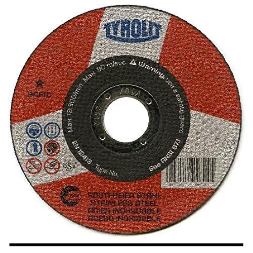 Tyrolit 456491 41 TRENNSCHEIBE GERADE, GEWEBEVERBUNDEN, Abmessung 100x1,0x10,VE: 25 Stück