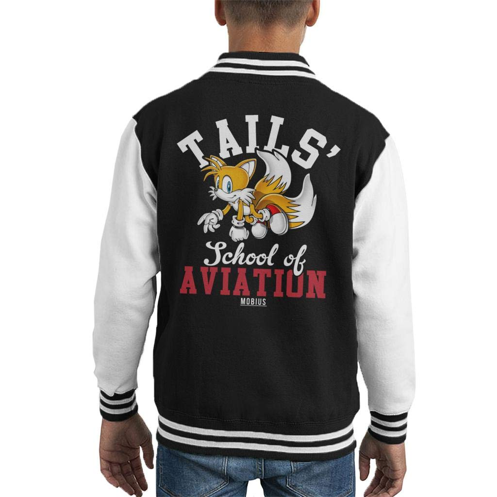 Cloud City 7 Tails School of Aviation Sonic The Hedgehog Kid's Varsity Jacket