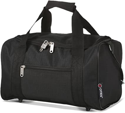 release date: save up to 80% fresh styles 5 Cities Ryanair Holdall Sport Duffel Bag, 35 cm, 14 Liters, Black