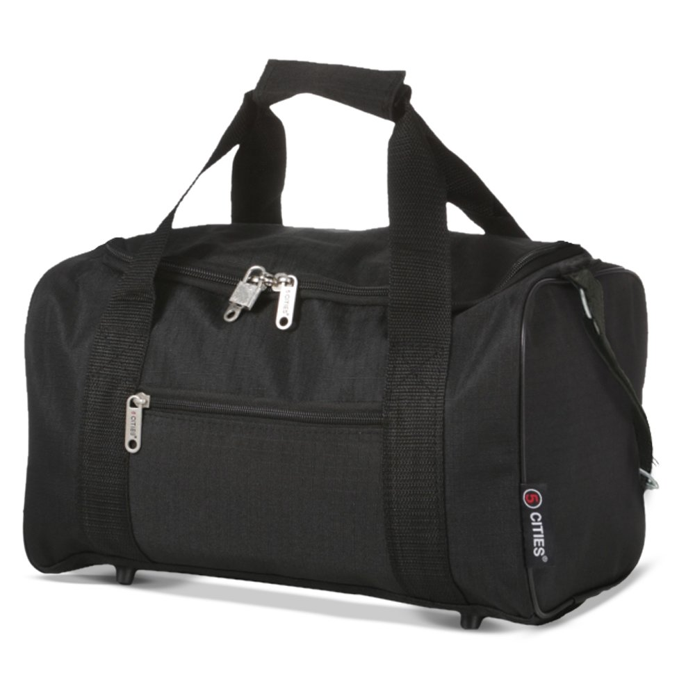 5 Cities Ryanair Holdall Sport Duffel Bag, 35 cm, 14 Liters, Black 5038230128886