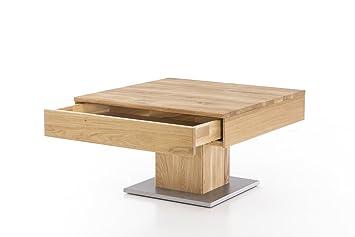 Massivholz Couchtisch Quadratisch Aus Wildeiche Geölter Wohnzimmer