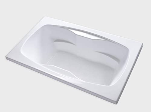 Carver Tubs – AR7242-72 L x 42 W x 20.5 H White Acrylic Soaking Drop In Bathtub