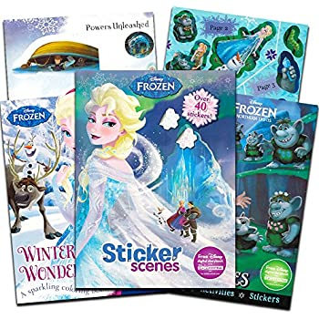 Amazon Com Disney Frozen Coloring Book Trace And Learn Activity