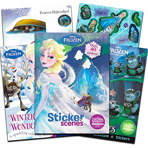 Disney Frozen Coloring Book Super Set -- 3 Deluxe Frozen Coloring Books with Frozen Stickers (Super Set)