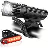Luz Bicicleta Recargable USB, Linterna Bicicleta Impermeable con Luz Brillante Bicicleta Delantera con 4 Modos y Luz Trasera