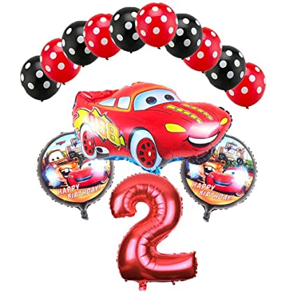 Amazon.com: CuteTrees Cars Lightning McQueen 2º cumpleaños ...