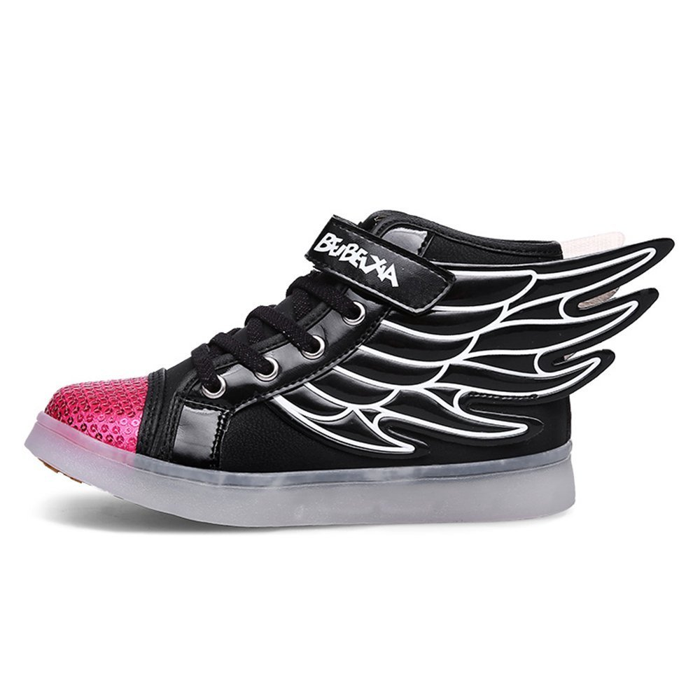 Believed Wings Led Light Up Shoes 11 Colors Flashing Rechargeable Sneakers Ankel Boots for Kids Boys Girls