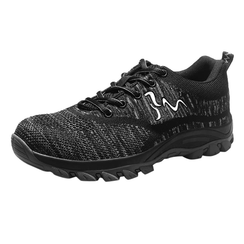 Mens Safety Work Shoes Sneakers Outdoor Breathable Mesh Casual Sports Industrial Construction Labor Insurance Shoes by Dacawin-Men Sneakers
