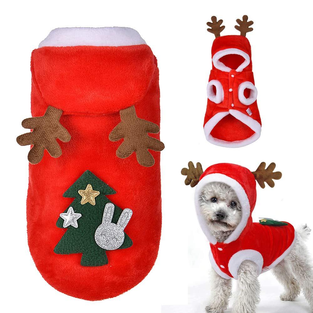 WINBST Traje de Perro de Pap/á Noel Abrigo de Perro de Navidad Abrigo de Chaquetas de Invierno Disfraces de Perro Ropa de Navidad Ropa de Pap/á Noel