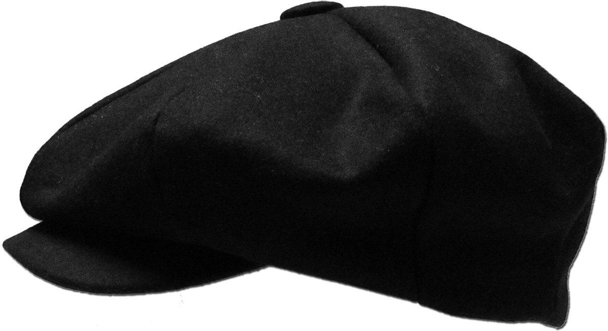 3b6a69ca57915 KBW-319 BLK L XL Solid Oversized Applejack Ascot Ivy Newsboy Hat - KBW-319  BLK L-XL   Newsboy Caps   Clothing